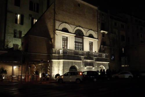 La Camera di Commercio illumina la terrazza della Loggia dei Mercanti ad Ancona