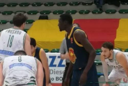 Basket serie B, cade il Campetto Ancona sotto i colpi di una tonica Giulianova