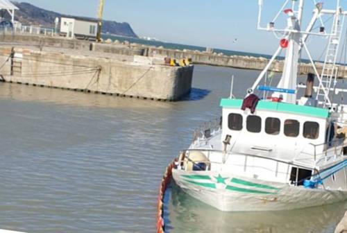 Fano, falla nello scafo: peschereccio semiaffondato nel porto canale