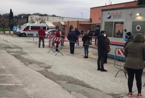 Screening a Mondolfo: 3614 le persone sottoposte a tampone nei primi 4 giorni