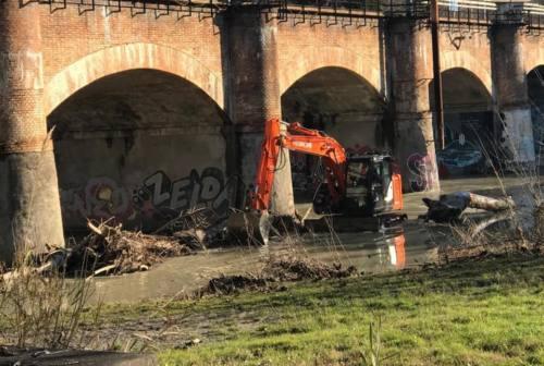 Pesaro, iniziata la rimozione dei detriti sotto il ponte della ferrovia sul Foglia