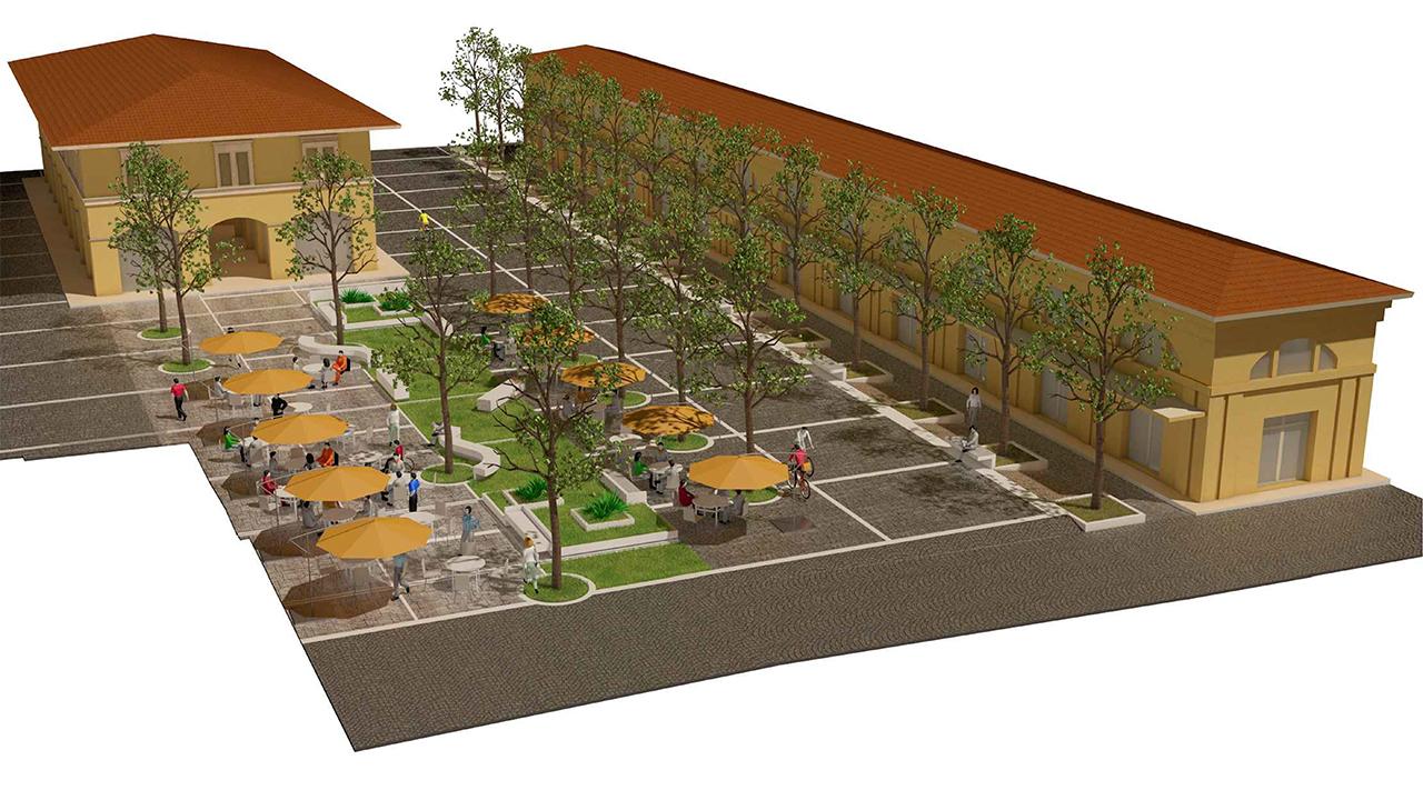Il progetto di piazza Andrea Costa