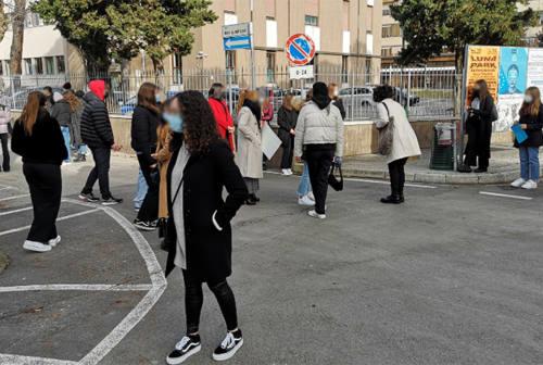 Contro la dad: protesta in piazza a Senigallia e falso allarme incendio