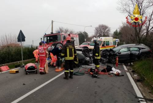 Incidente a Polverigi, ferita anche una bimba