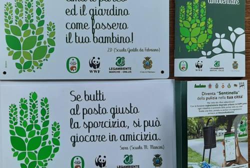 Frasi e slogan per l'ambiente, così le nuove generazioni di Fabriano insegnano il senso civico