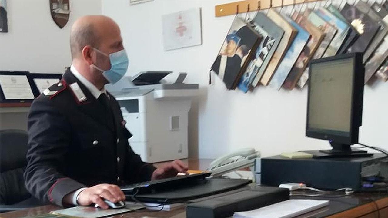 L'attività di accertamento da parte dei carabinieri di Ostra