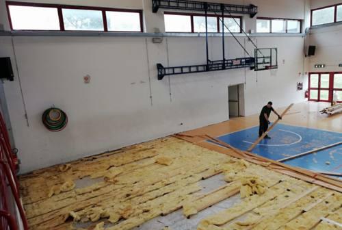 Al via i lavori al PalaMenotti di Montemarciano, inagibile dopo il raid dei vandali