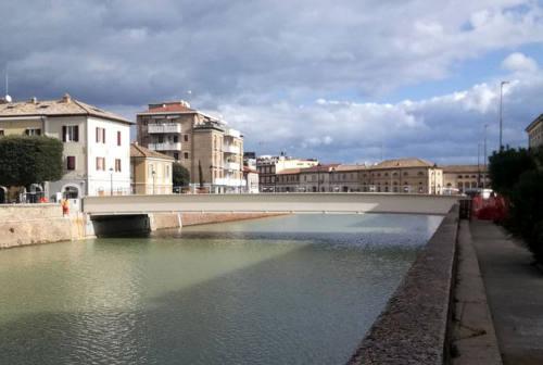 Senigallia, ponte II Giugno: ridotta l'area occupata dal cantiere