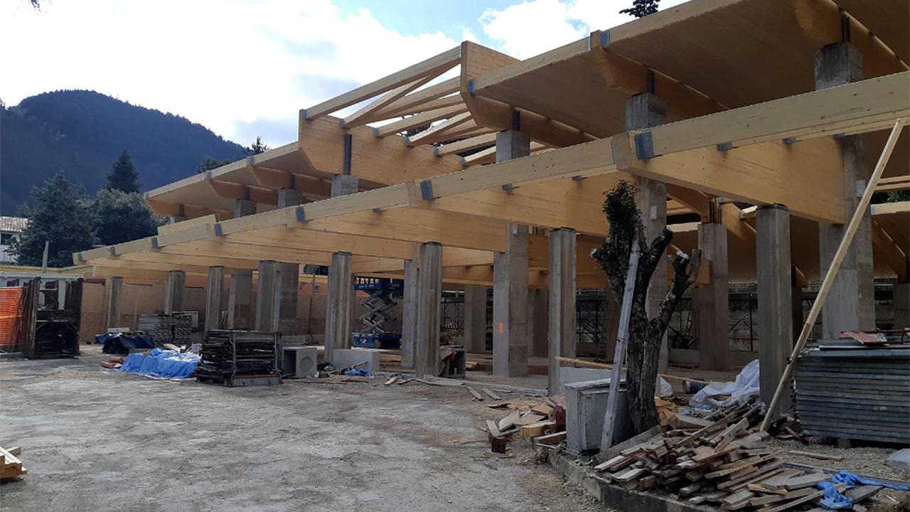 Arcevia, lavori in corso per realizzare la nuova scuola materna in località Conce