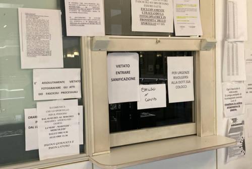 Ancona, personale positivo: sportello del tribunale chiuso per Covid