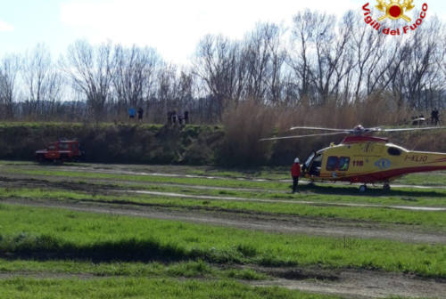 Pesaro, cade con la moto da cross: soccorso in eliambulanza