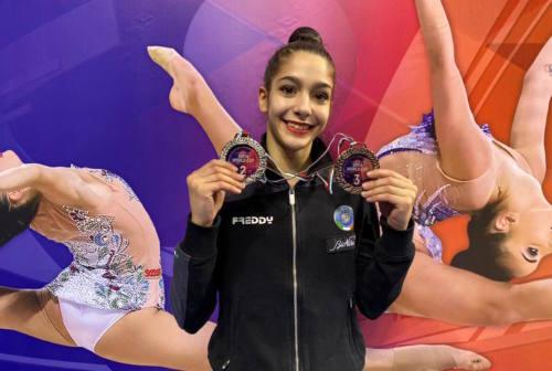 Ginnastica ritmica: Sofia Raffaeli argento e bronzo al debutto in World Cup