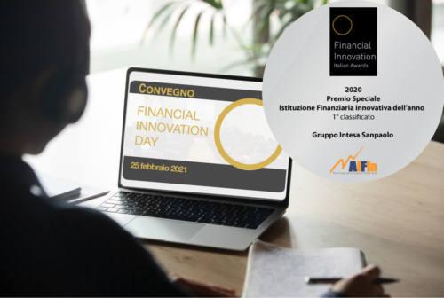 Intesa Sanpaolo premiata come Istituzione Finanziaria innovativa dell'anno 2020