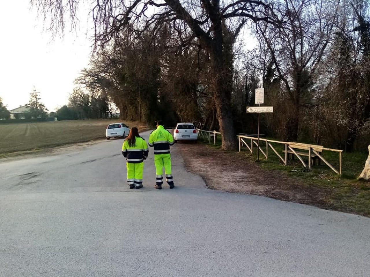 I controlli alla pista di Campocavallo di Osimo