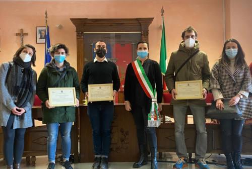 Tavullia, premiati i 3 giovani che hanno sventato un furto all'IperConad