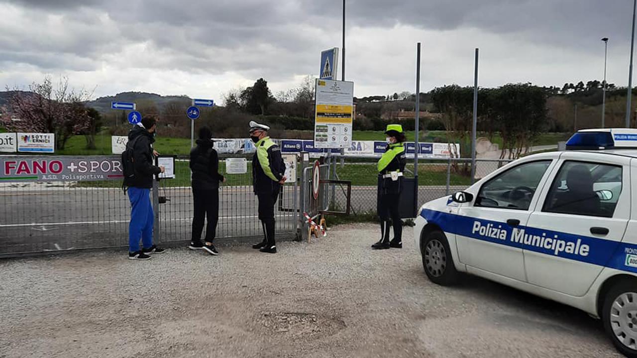 Impianto Marconi a Fano: controlli della Polizia e dell'Assessore Brunori