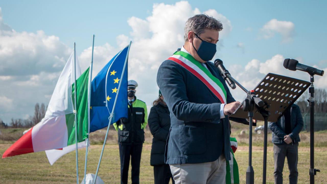 Massimo Seri alla cerimonia per ricordare le vittime del Covid-19