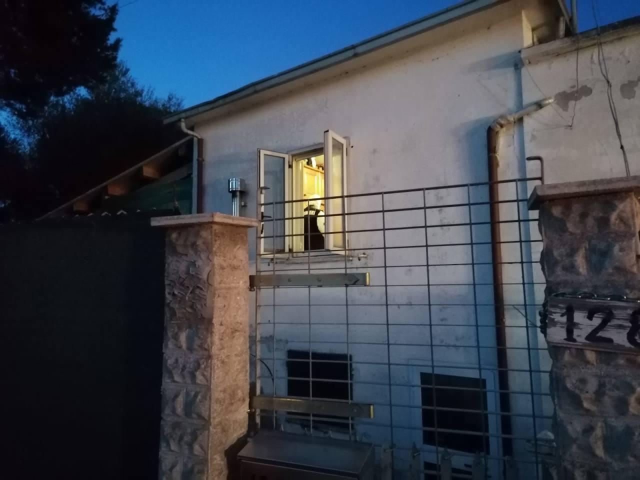 La casa nella frazione Roncitelli a Senigallia, teatro dell'omicidio di Alfredo Pasquini