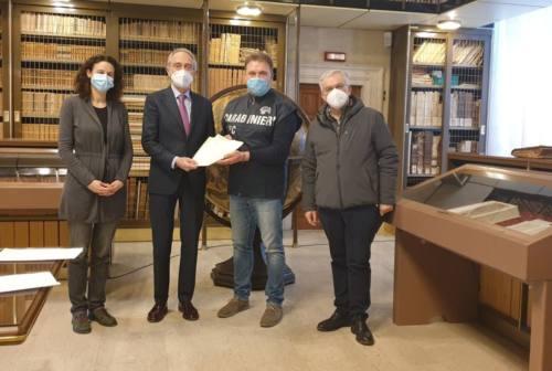 Jesi, due lettere dell'800 sequestrate dai Carabinieri e riconsegnate al Comune