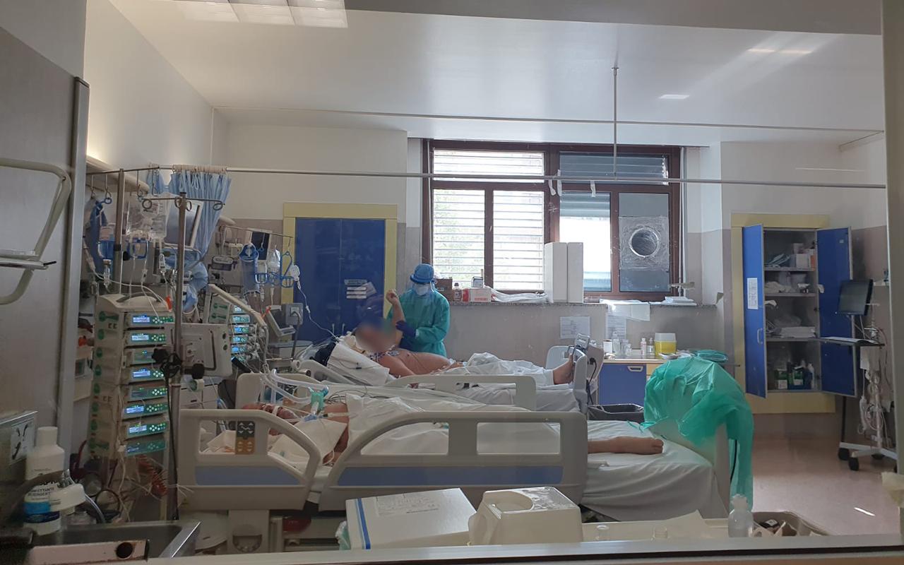 La terapia intensiva dell'ospedale regionale a Torrette di Ancona