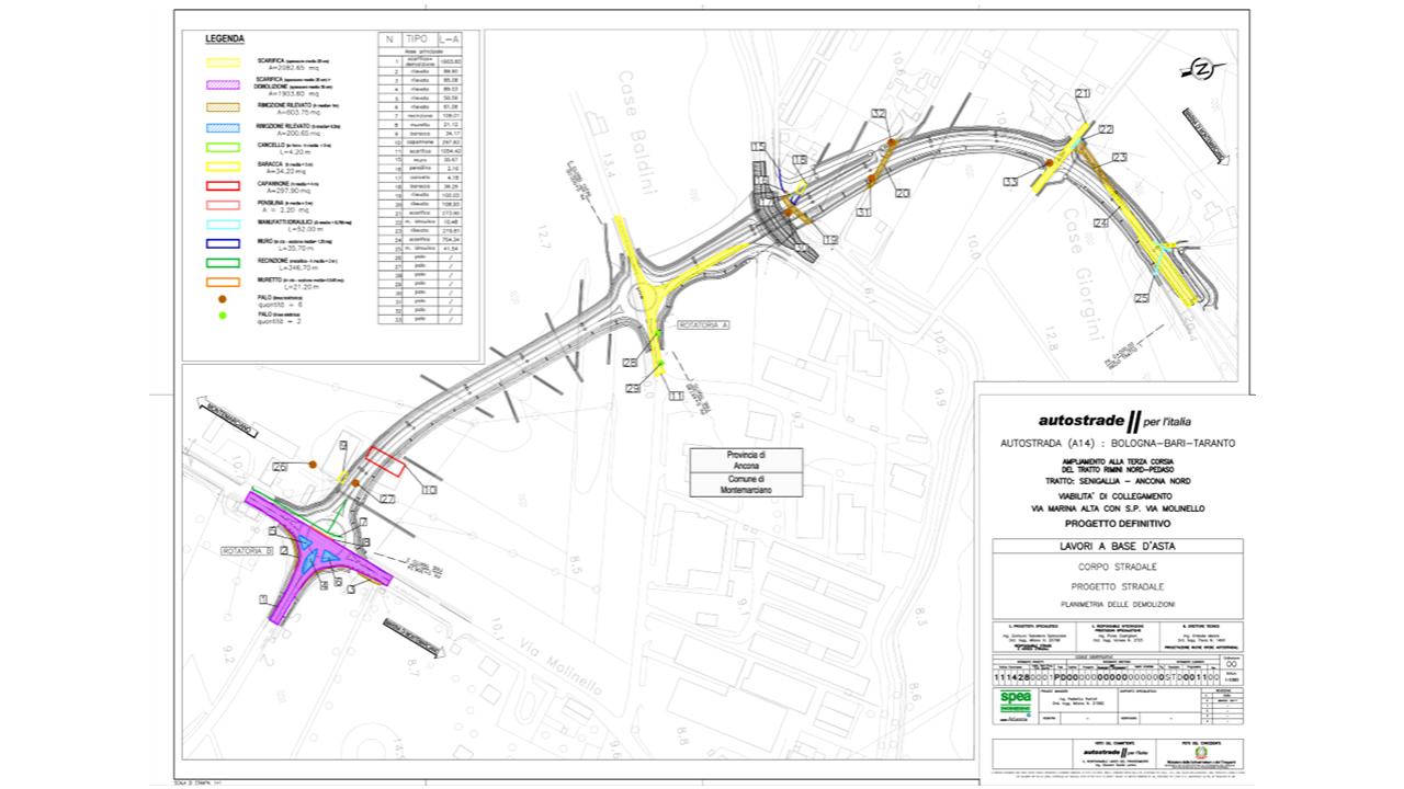 Il progetto della bretella autostradale per l'A14 a Montemarciano