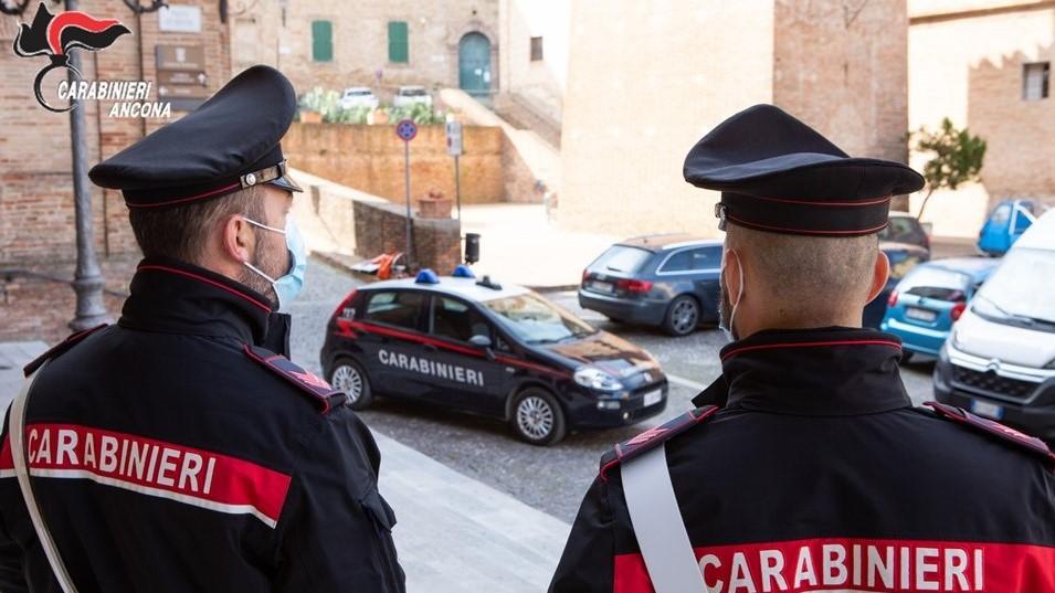 I carabinieri in servizio a Ostra