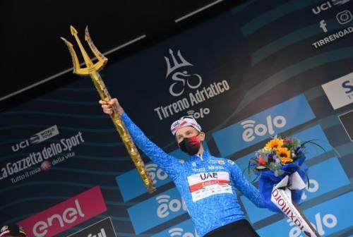 Ciclismo, la Tirreno-Adriatico va a Pogacar. A Van Aert la cronometro di San Benedetto