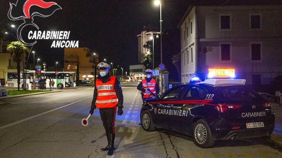 I controlli stradali dei Carabinieri a Senigallia