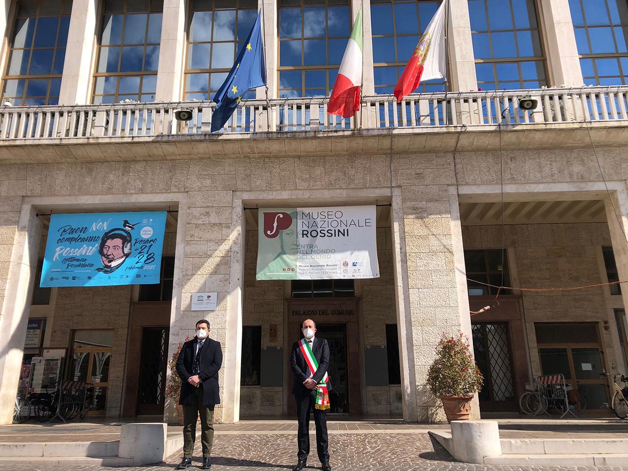 Pesaro, il vice sindaco Daniele Vimini e il presidente del Consiglio Marco Perugini.