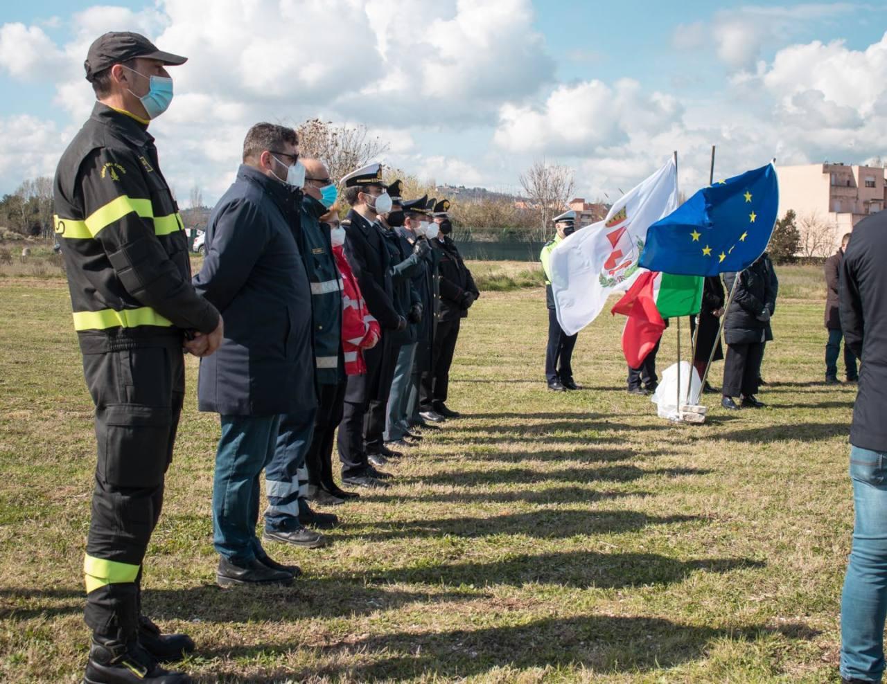 la cerimonia per ricordare le vittime del Covid-19