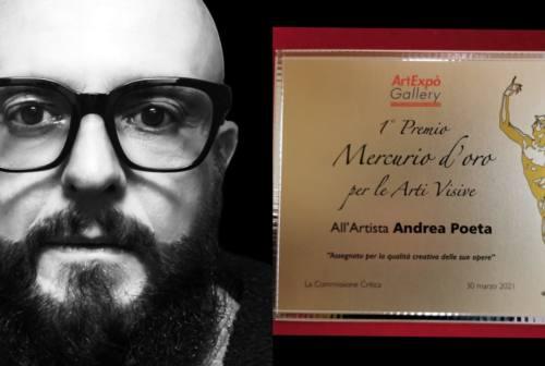 Fabriano, ad Andrea Poeta il Premio Mercurio d'Oro
