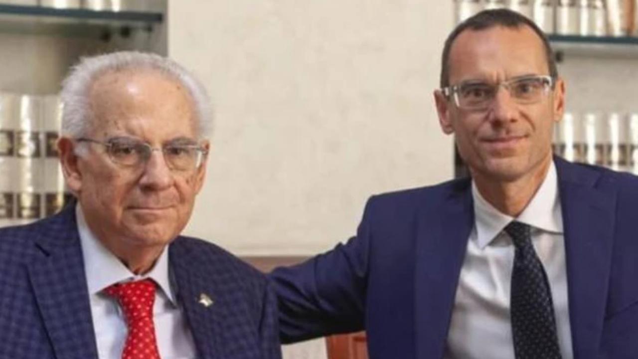 Angelo Colangeli con il figlio Dario