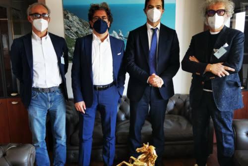 Fabriano, delegazione di commercianti ricevuta dal presidente Acquaroli