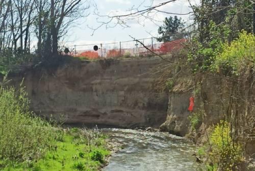Osimo, si aggrava la frana che ha colpito la pista ciclabile di Campocavallo