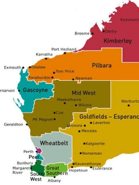Mappa di Perth