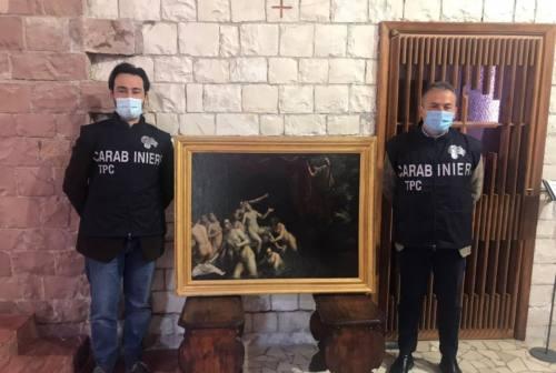 Castelraimondo, dipinto trafugato nel 1981 ritrovato dai Carabinieri