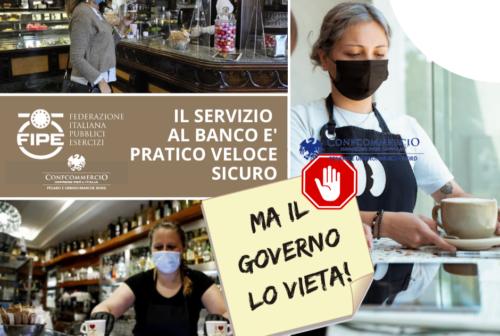 Divieto di consumazione al banco nei bar, Fipe Pesaro: «Punitivo e ingiustificato»
