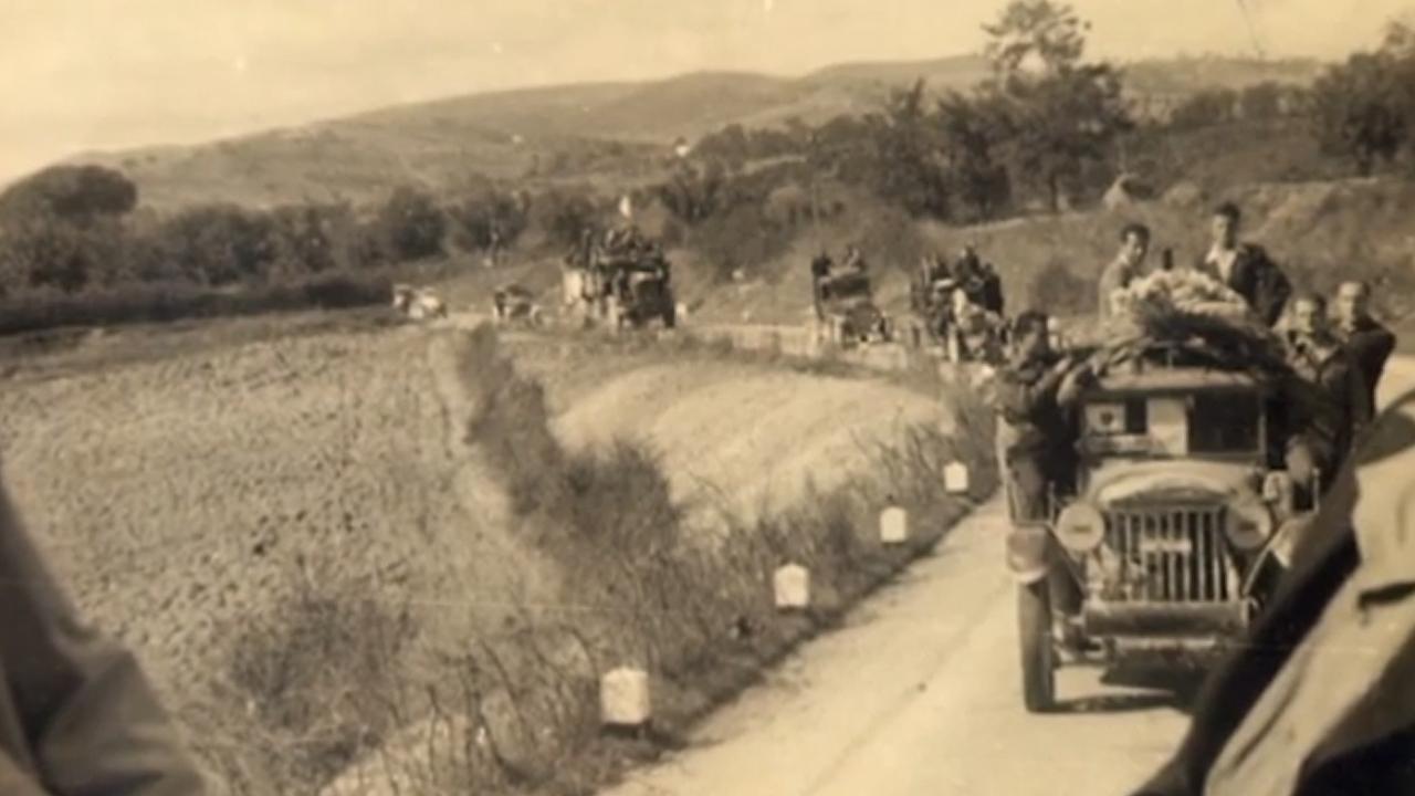Una scena del documentario dell'Anpi Tolentino sull'eccidio di Montalto pubblicato per il 25 aprile