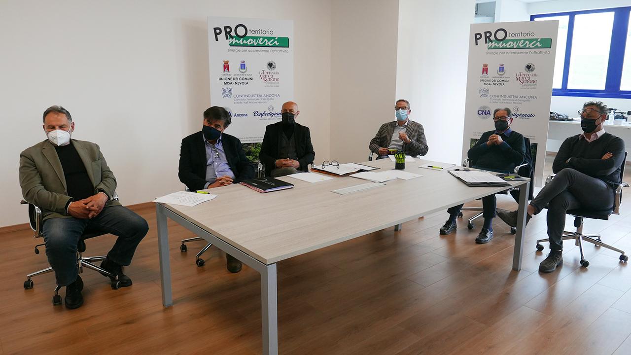 """Associazioni di categoria e le unioni dei comuni insieme nel progetto """"ProMuoverci"""" per rilanciare il territorio della valli Misa e Nevola"""