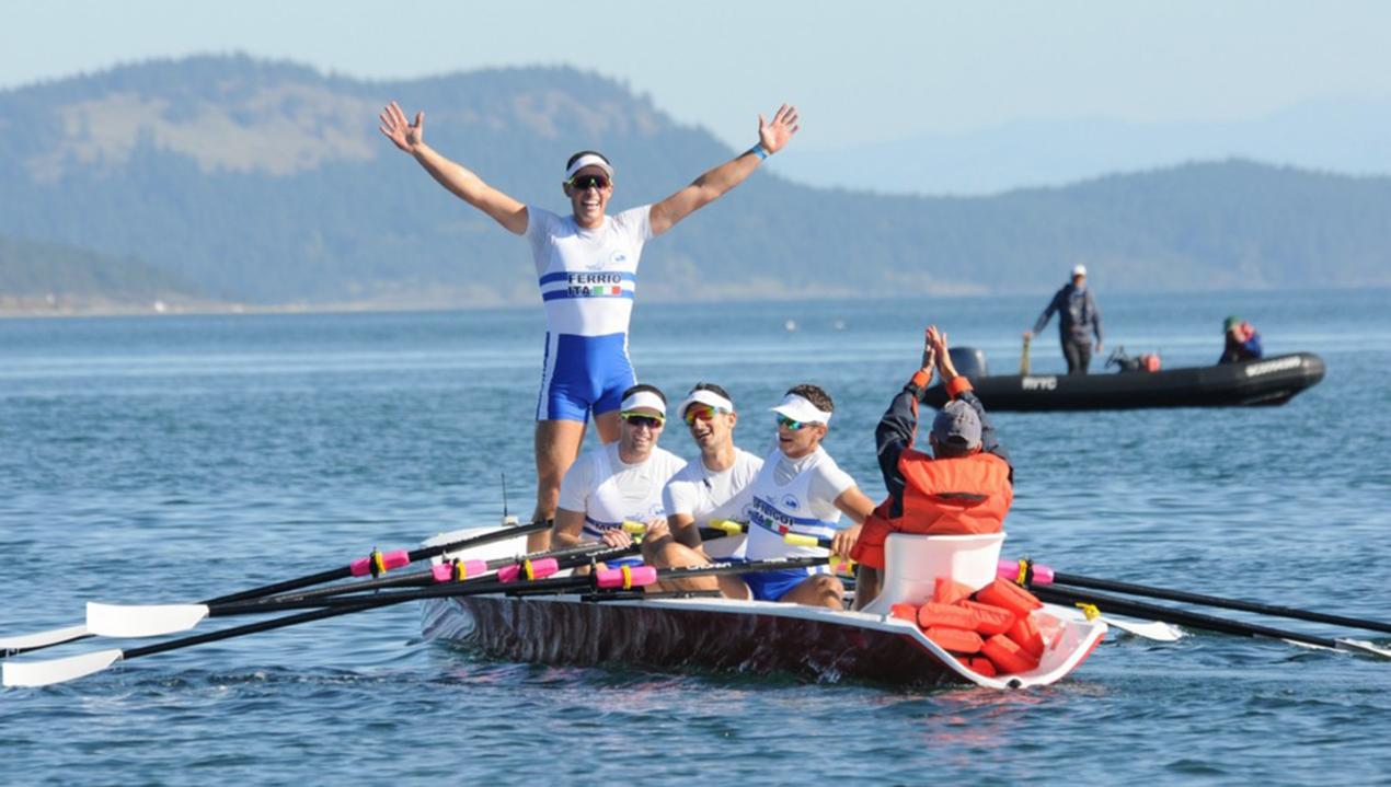 sport acquatico: Il 4 di coppia Coastal del CC Saturnia pluricampione del mondo. (foto tratta da canotaggiomania.com)
