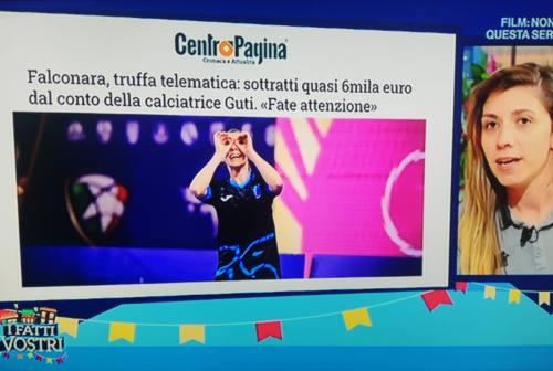 Guti in Tv a «I fatti vostri»: «Occhio alle truffe telematiche». Anche CentroPagina «protagonista»