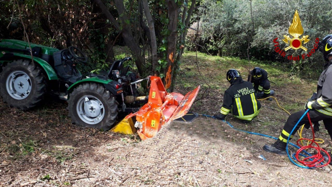 Incidente con la motozappa a Cannelle di Fano