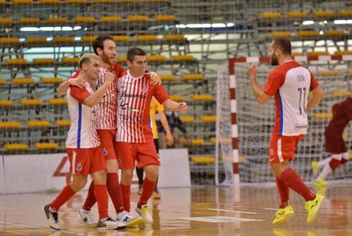 Futsal, playoff: gara1 se l'aggiudica l'Italservice Pesaro. Al Pala Pizza cade la Signor Prestito