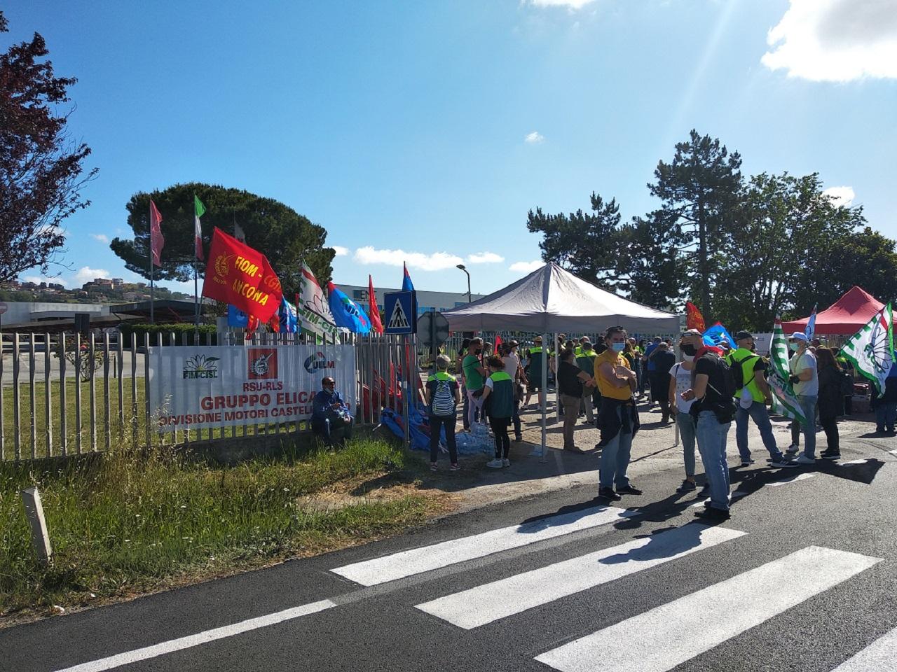 La manifestazione a Castelfidardo
