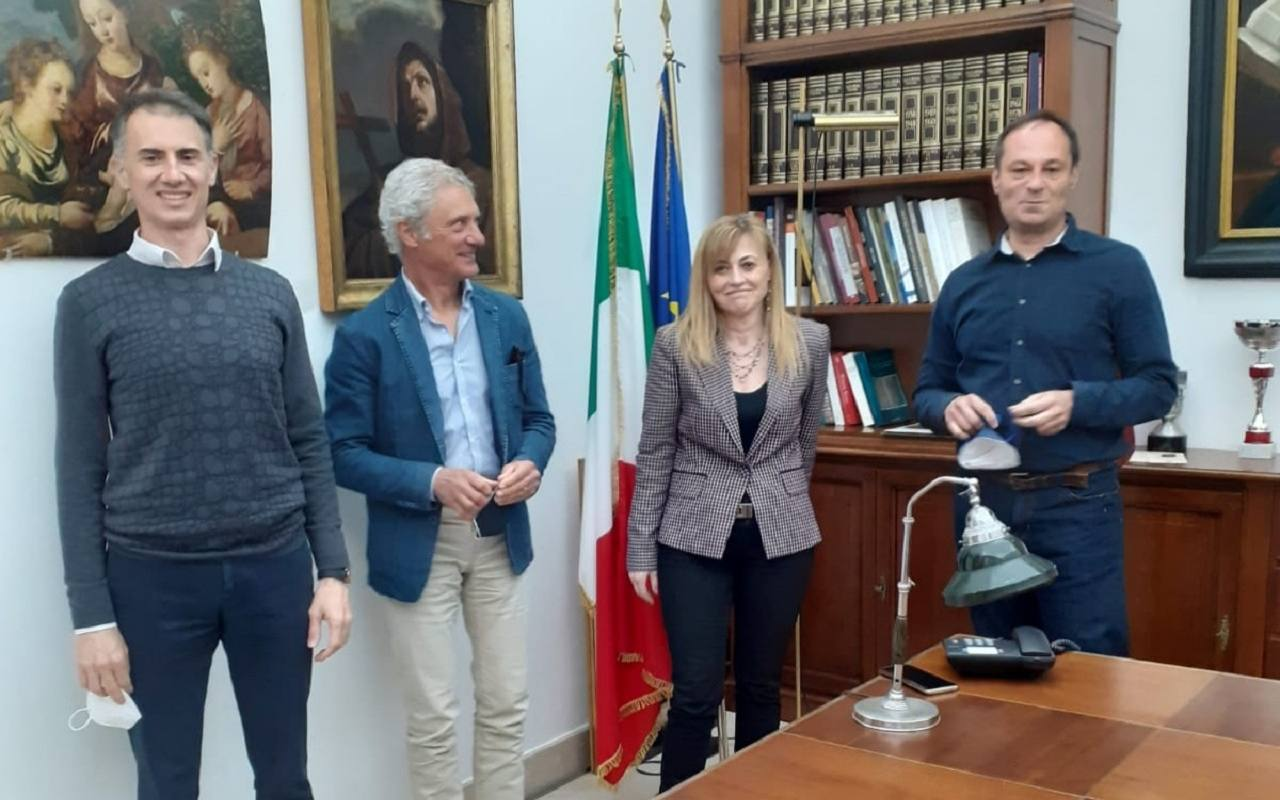 Il nuovo cda del Campana: da sinistra Pirani, Taliani, Giacchetti e Anselmi
