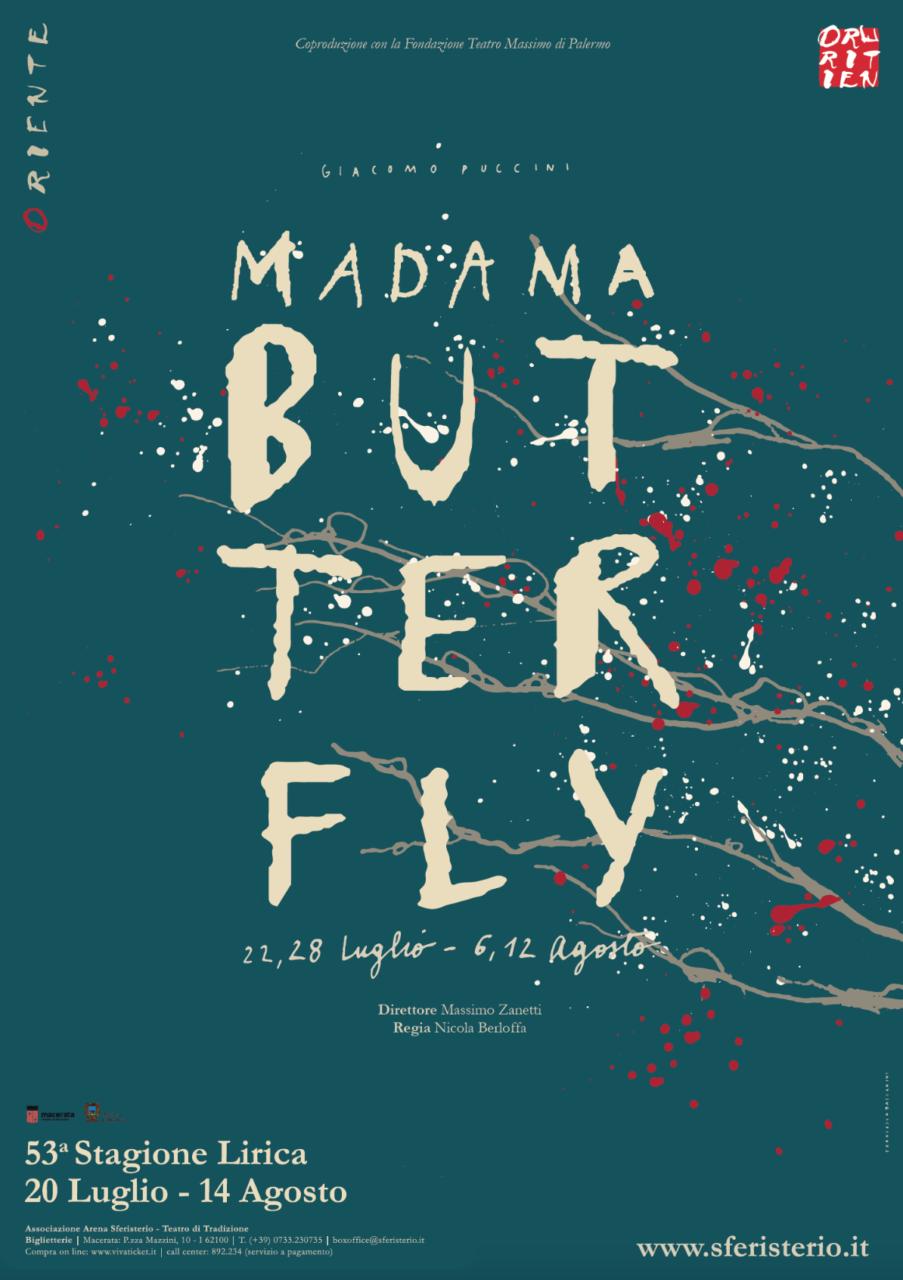 """Francesca Ballarini, manifesto per """"Madama Butterfly"""", Macerata Opera Festival 2017"""