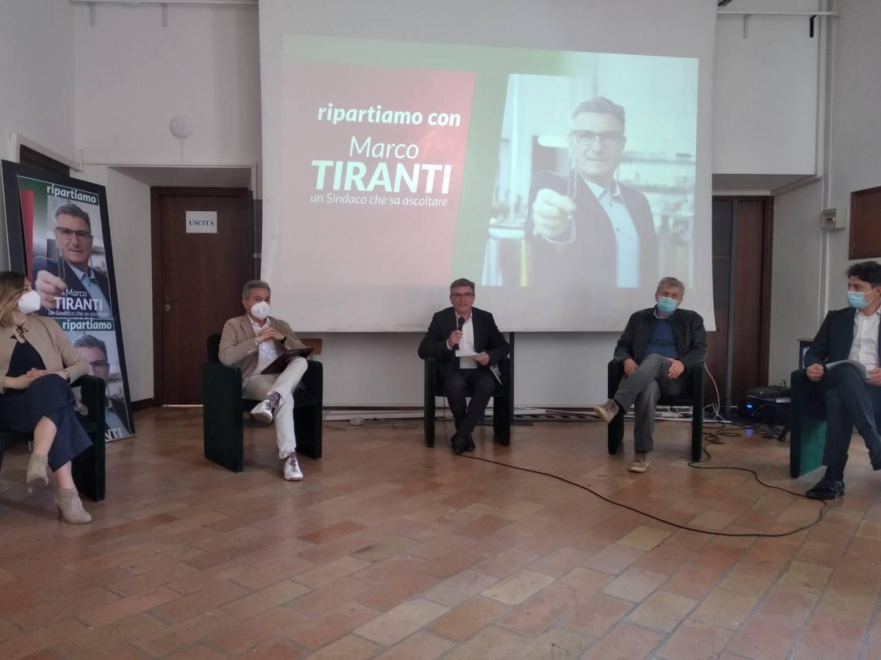 La conferenza stampa per Tiranti sindaco