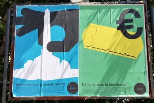 Jesi, le immagini di Pensiero Manifesto contro lo spostamento della fontana