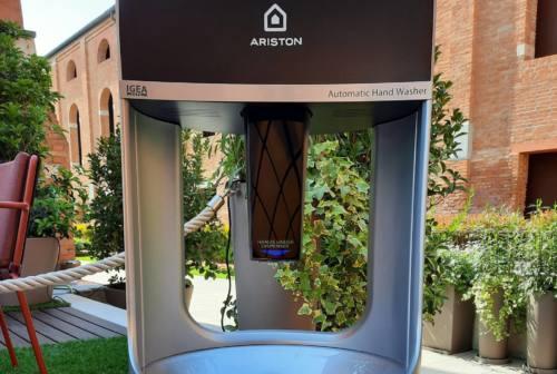 Presentata la colonnina lavamani Igea Care, disegnata da Umberto Palermo e sviluppata da Ariston Thermo Group