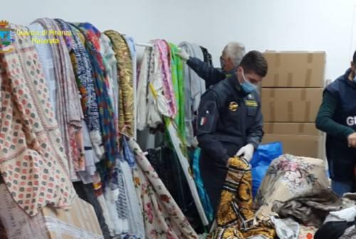 Camerino, 3500 metri di stoffe contraffatte delle grandi case di moda. Due denunce